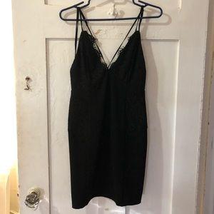 Sexy lace plunge dress